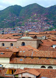 Cuzco city and mountains Royalty Free Stock Photography