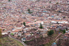 Cuzco cityscape royalty free stock photography