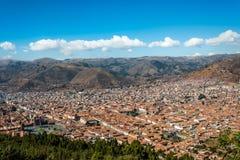 Cuzco cityscape  in the peruvian Andes Stock Photos