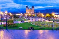 Cuzco domkyrkakyrka fotografering för bildbyråer