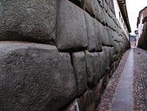 Cuzco Inca stone wall Stock Photo
