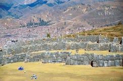 cuzco n per sacsayhuam arkivbilder