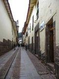 Cuzco, Perù, il 20 gennaio 2010: vie di Cuzco immagine stock libera da diritti