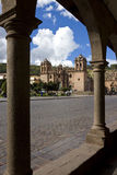 Cuzco - Peru. Cuzco Cathedral (Segrada Familia) in Plaza del Armas in the City of Cuzco in Peru in South America royalty free stock images