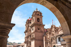 cuzco peru arkivfoton
