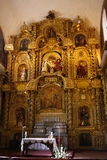 Cuzco, Peru. Interior in gold of Cathedral in Cuzco, Peru royalty free stock photography