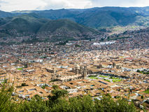 Cuzco, Peru. Aerial view from Cuzco in Peru with hills royalty free stock photos