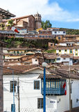 Cuzco in Peru. City of Cuzco in Peru, South America royalty free stock images