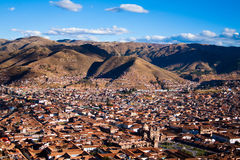 Cuzco, Peru. General view of the city of Cuzco, Peru stock image
