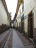 Cuzco, Peru, January 20, 2010: streets of Cuzco. royalty free stock image