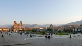Parade ground and cathedral of Cuzco Peru