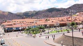 Cuzco, Peru Plaza de Armas. Church and Cathedral. stock video footage
