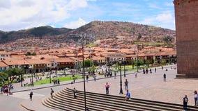 Cuzco, Peru Plaza de Armas Iglesia y catedral metrajes