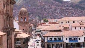 Cuzco Peru Plaza de Armas Kyrka och domkyrka stock video