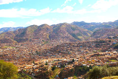 Cuzco, Peru. Plaza de Armas, Skyline view Royalty Free Stock Image