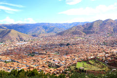 Cuzco, Peru. Skyline view from Saqsaywaman Royalty Free Stock Image
