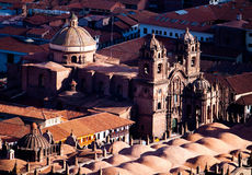 CUZCO, PERU: view of the main churches in the city Stock Images