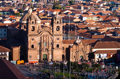 CUZCO, PERU: view of the main churches in the city Royalty Free Stock Images