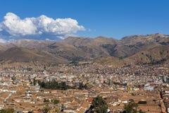 Cuzco stadshorisont Peru Arkivbild