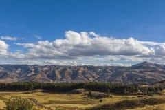 Cuzco stadshorisont Peru Arkivfoton