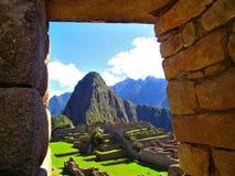 Cuzco stenportal Arkivfoton