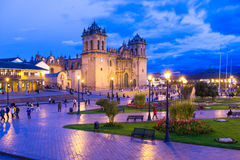 Cuzco. View of Cuzco cathedral church royalty free stock image