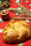 Cuzzupa (Calabrian cake) on a Christmas table Stock Photo
