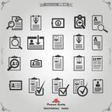 CV -履历,外形被设置的简历按钮 免版税库存照片