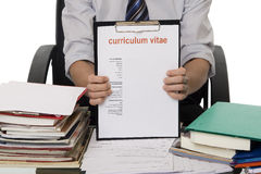 CV for application job Stock Photography