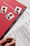 CV and application letter in German Stock Photo