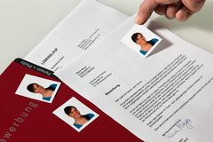 CV and application letter in German Royalty Free Stock Photo