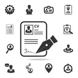 CV approvevent icon. Set of Human resources, head hunting icons. Premium quality graphic design. Sign sand symbols collection, sim. Ple icons for websites, web Stock Photography