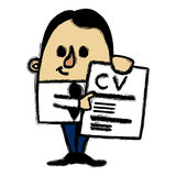 CV businessman Stock Image