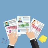 Cv concept resume with photo, documents. Stock Photos