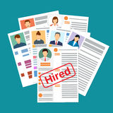 Cv concept resume with photo, documents. Stock Image