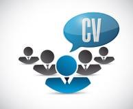 cv, concepto de la muestra de la gente del curriculum vitae ilustración del vector