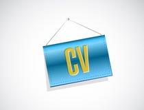 Cv, curriculum vitae banner sign concept Stock Photos