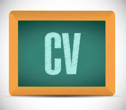 Cv, curriculum vitae board sign concept Royalty Free Stock Image