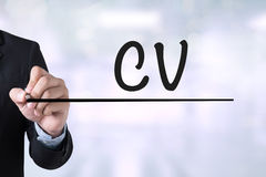CV - Curriculum Vitae Stock Photo