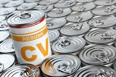 Cv curriculum vitae can.  Candidate job position. Conceptual ima Royalty Free Stock Image