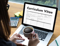CV - Curriculum Vitae (Job interview concept with business CV re Royalty Free Stock Photography
