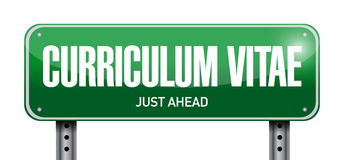 Cv, curriculum vitae post sign concept. Illustration design over white Royalty Free Stock Image