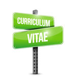 Cv, curriculum vitae street sign concept Royalty Free Stock Image