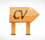 Cv, curriculum vitae wood sign concept Stock Images
