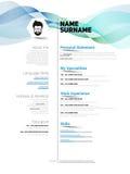 CV del minimalist libre illustration