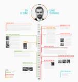 Cv del minimalist de la cronología del vector/plantilla del curriculum vitae stock de ilustración