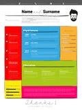 CV del minimalist, plantilla del curriculum vitae libre illustration