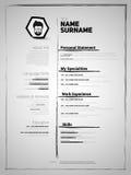 CV del minimalist, plantilla del curriculum vitae stock de ilustración