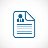 Cv document vector icon Royalty Free Stock Photography