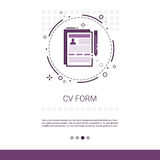CV Form Resume Candidate Vacancy Search Web Banner With Copy Space. Vector Illustration vector illustration